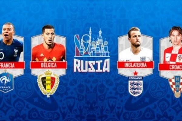 Conoce los Semifinalistas de Rusia 2018