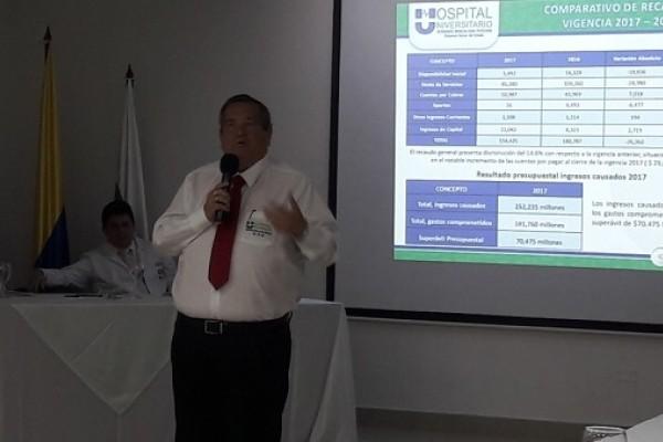 """Hospital Universitario """"Hernando Moncaleano"""" presentó Balance del 2017"""