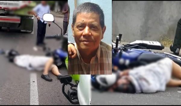 Motociclista murió arrollado por un camión