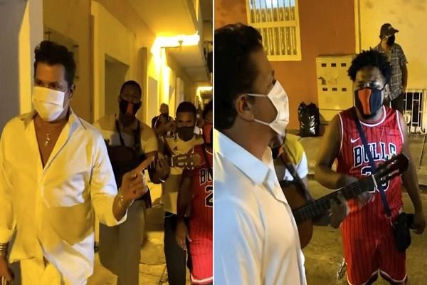 Serenata de raperos a Carlos Vives en Cartagena