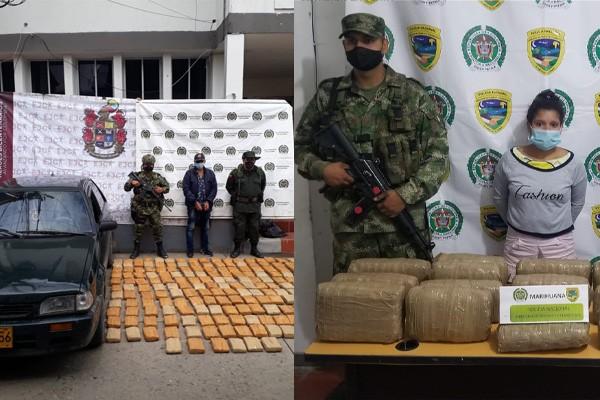 113 kilos de marihuana fueron incautados en vías del Huila