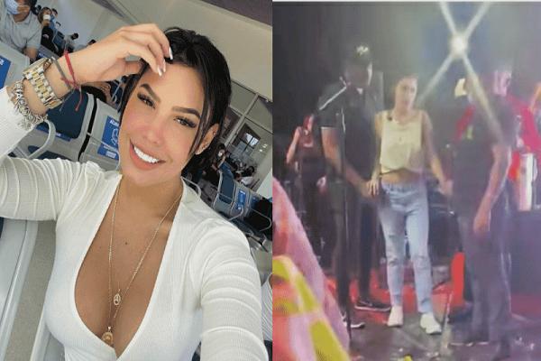 A Ana del Castillo le dio la pálida en pleno concierto