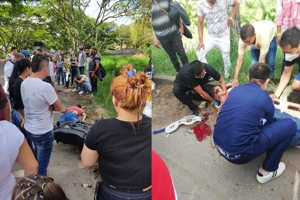 Hombre fue arrollado en por una moto en Garzón