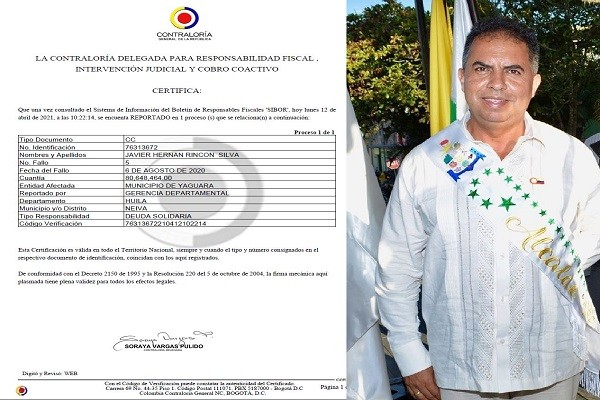 Inhabilitan a Alcalde de La Argentina