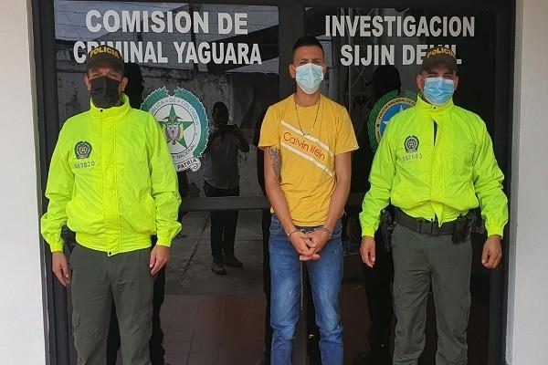 Capturado por golpear a su pareja en Yaguará