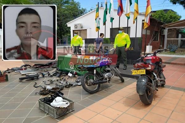 Cayó alias 'Levi' por hurtar y deshuasar motos en Neiva
