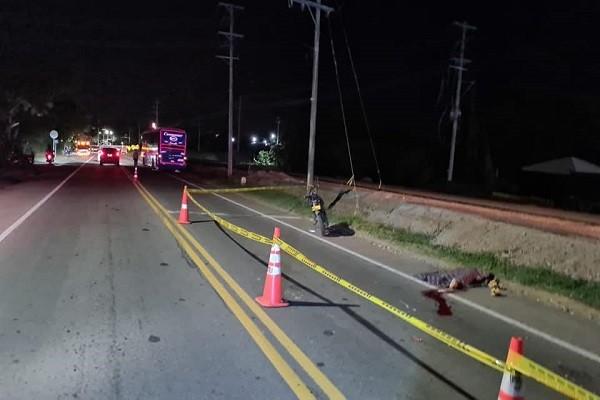 Trágico accidente en la vía Neiva - Castilla