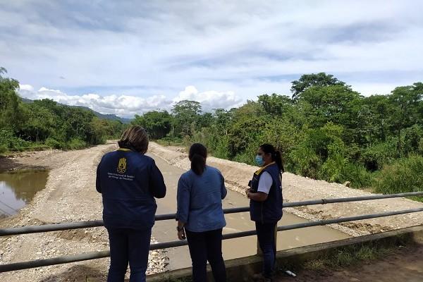 Visitas técnicas a municipios afectados por las lluvias en el Huila
