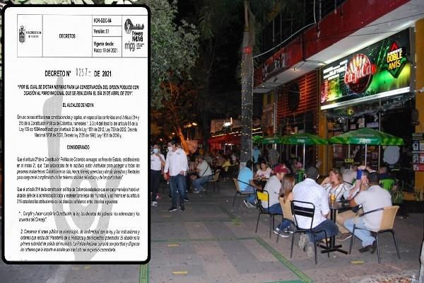 Ley seca y otras prohibiciones decretó Alcaldía de Neiva por Paro Nacional