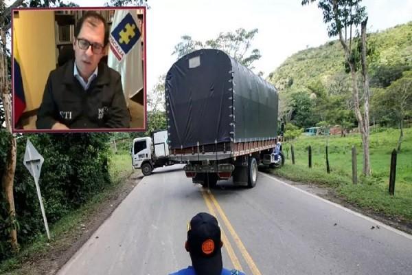 """""""Me voy a quedar con los camiones"""", advierte Fiscal Barbosa por bloqueos"""