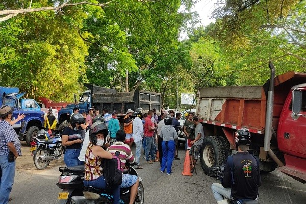 Listado actual de bloqueos en las vías de Huila