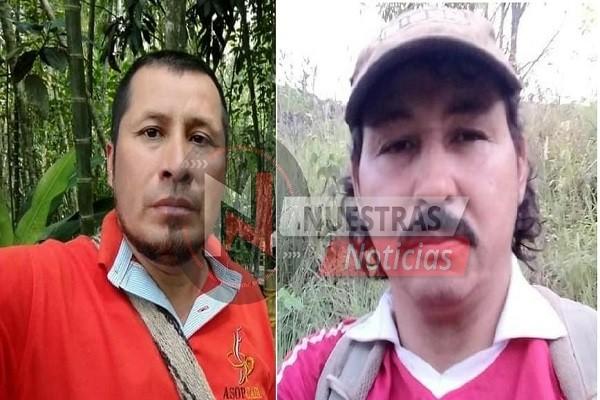 Doble homicidio de líderes comunales en Aipe