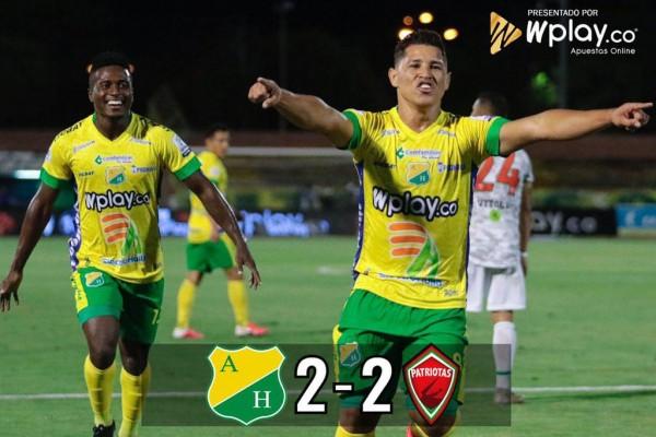 Atlético Huila empató y dejó escapar la victoria en los últimos minutos