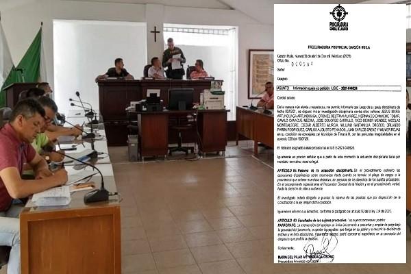 Concejales de Timaná investigados por Proyecto de Acuerdo