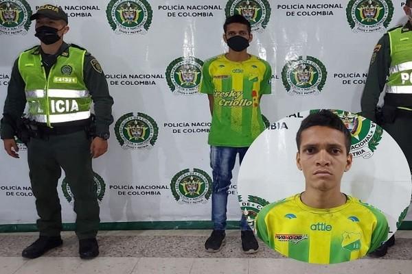 Capturado por agredir a hincha del Tolima
