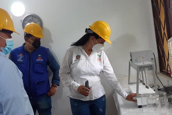 Realizan verificación de agua potable en Íquira, Tello y Yaguará