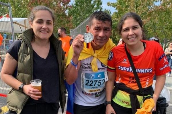 Abilio Yustre, el atleta huilense en la Maratón de Berlín