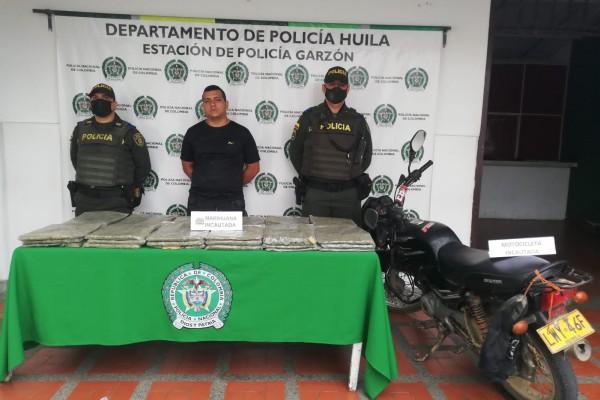 Lo agarraron mientras distribuía marihuana en Garzón