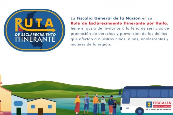 Ruta de esclarecimiento de la Fiscalía llegará a Pitalito